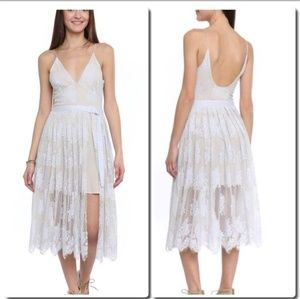 Free people midi lace dress